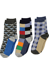 Jefferies Socks - Funky Plaid Dress Socks 3-Pack (Toddler/Little Kid/Big Kid)