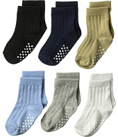 Jefferies Socks - Non-Skid Rib Crew 6-Pack (Infant/Toddler)