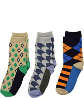 Jefferies Socks - Funky Diamond Dress Socks 3-Pack (Toddler/Little Kid/Big Kid)
