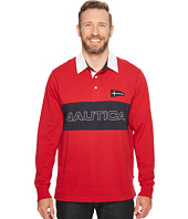 Nautica Big & Tall - Big & Tall Long Sleeve Logo Rugby Polo