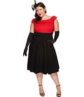 Unique Vintage - Plus Size Color Block Tippi Dress