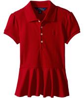 Polo Ralph Lauren Kids - Cotton Peplum Polo Shirt (Little Kids)