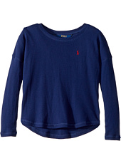 Polo Ralph Lauren Kids - Waffle-Knit Long Sleeve Top (Little Kids)
