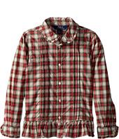 Polo Ralph Lauren Kids - Tartan Cotton Shirt (Little Kids)
