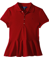 Polo Ralph Lauren Kids - Cotton Peplum Polo Shirt (Little Kids/Big Kids)