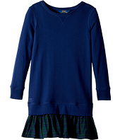 Polo Ralph Lauren Kids - Ruffled-Hem Fleece Dress (Little Kids/Big Kids)