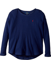 Polo Ralph Lauren Kids - Waffle-Knit Cotton Jersey Top (Little Kids/Big Kids)