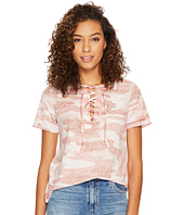 Lucky Brand - Camo Lace-Up Tee