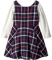 fiveloaves twofish - Flannel Fit N Flare Dress (Toddler/Little Kids)