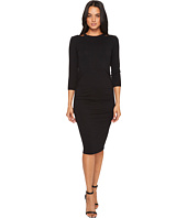 Michael Stars - Cotton Lycra Round Neck Dress with Slashed Shoulders