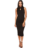 Michael Stars - Cotton Lyrca Mock Neck Sleeveless Dress