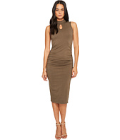 Michael Stars - Cotton Lycra Mock Neck Sleeveless Dress