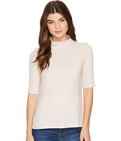 Michael Stars - Super Soft Madison Mock Neck Elbow Sleeve Top