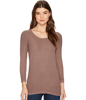 Michael Stars - 2X1 Rib 3/4 Sleeve Scoop Neck Top