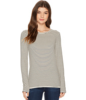 Michael Stars - Striped Rib Long Sleeve Crew Neck Tee