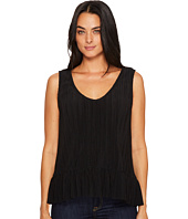 Michael Stars - Accordian Scoop Neck Flounce Tank Top
