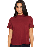 Michael Stars - Cotton Supima Mock Neck Crop Tee Shirt