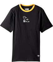 Vans Kids - Charlie Brown Short Sleeve Ringer Tee (Big Kids)