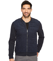 Perry Ellis - Quilted Faux Suede Full Zip