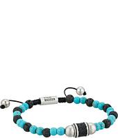 Steve Madden - Stainless Steel Turquoise Beaded Bracelet