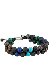Steve Madden - Stainless Steel Garnet Beaded Bracelet