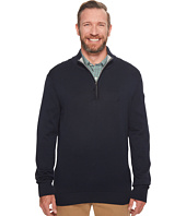 Nautica Big & Tall - Big & Tall 12GG 1/4 Zip Jersey Sweater