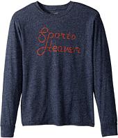 The Original Retro Brand Kids - Espn Sports Heaven Long Sleeve Mocktwist Tee (Big Kids)