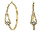 Crystal Pave Hoop Earrings