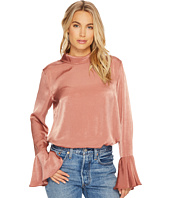 J.O.A. - Mock Neck Bell Sleeve Top