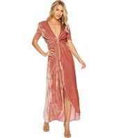J.O.A. - Twist Front Velvet Dress