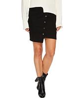 J.O.A. - Button Up Asymmetric Hem Skirt