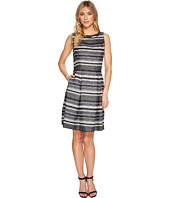 Adrianna Papell - Herringbone Stripe Fit and Flare