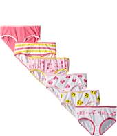 Trimfit - 6-Pack Smileys Hearts Cotton Tagless Hipsters Underwear (Toddler/Little Kids/Big Kids)