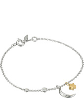 Fossil - Chain Bracelet with Moon and Star Motif