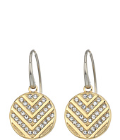 Fossil - Polished Disc with Chevron Glitz Drop Earrings