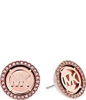 Michael Kors - MK Monogram Logo Pave Stud Earrings