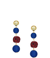 Rebecca Minkoff - Threaded and Pom Sphere Drop Earrings