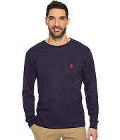 U.S. POLO ASSN. - Long Sleeve Crew Neck Pocket T-Shirt
