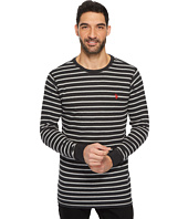 U.S. POLO ASSN. - Long Sleeve Striped Crew Neck Thermal Pullover