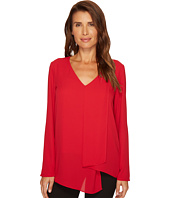 Karen Kane - Long Sleeve Drape Angle Top