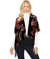 Bindya - Burgundy Floral Velvet Kimono