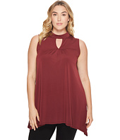 London Times - Plus Size Gigi Neck Tunic