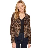 ROMEO & JULIET COUTURE - Leopard Print Moto Jacket