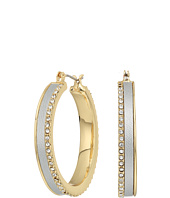 GUESS - Wide Glitter Hoop Earrings