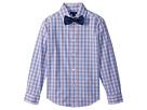Long Sleeve Stretch Sunny Plaid Shirt w/ Bow Tie (Big Kids)